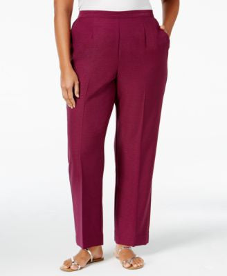 Alfred Dunner Plus Size Veneto Valley Collection Pull-On Pants