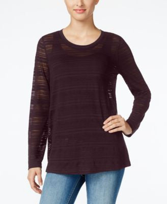 Style & Co. Illusion-Striped Top, Only at Vogily