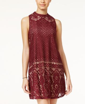 American Rag Lace Mock-Neck Shift Dress, Only at Vogily
