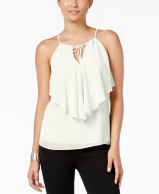 Thalia Sodi Ruffled Chiffon Top, Only at Vogily