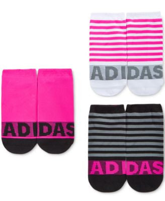 Adidas Women's 3-Pk. Striped No-Show Socks