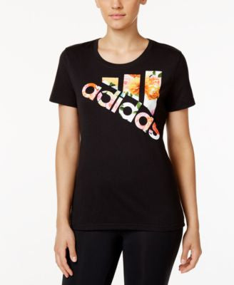 adidas ClimaLite Floral Logo T-Shirt