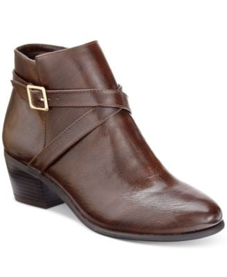 Karen Scott Flynne Block-Heel Booties, Only at Vogily