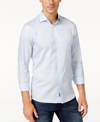 Michael Kors Men's Hollis Gingham Long-Sleeve Shirt