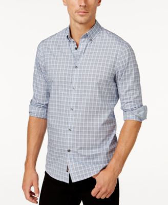 Michael Kors Men's Walker Tattersall Long-Sleeve Shirt