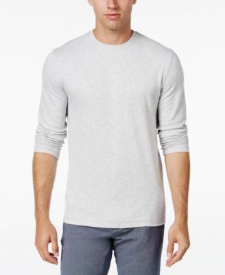 Tasso Elba Men's Big and Tall Performance UV Protection Space-Dye Long-Sleeve T-Shirt