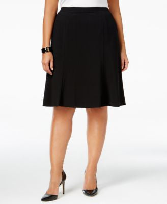 Nine West Plus Size Crepe A-Line Skirt