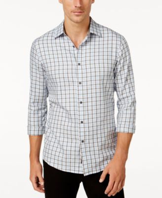Michael Kors Men's Wagner Plaid Long-Sleeve Shirt