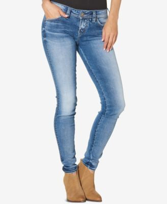 Silver Jeans Aiko Medium Blue Wash Super Skinny Jeans
