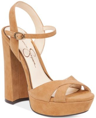 Jessica Simpson Naidine Strappy Block-Heel Sandals