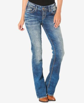 Silver Jeans Suki Medium Blue Wash Bootcut Jeans