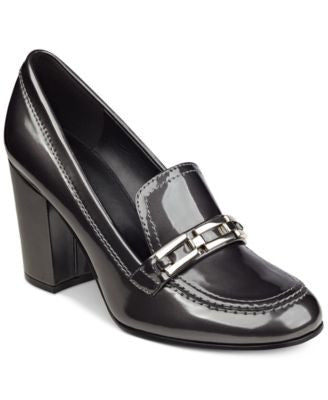 Marc Fisher Barley Tailored Block-Heel Pumps