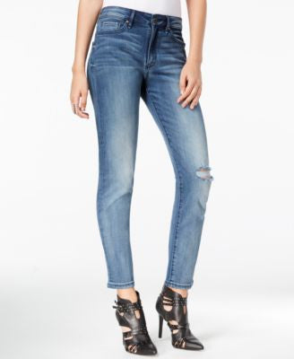 William Rast Distressed Dark Secret Wash Straight-Leg Jeans