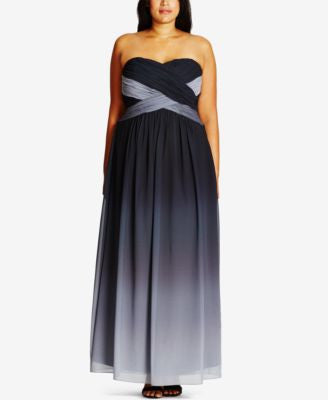 City Chic Plus Size Moonlight Ombré Gown