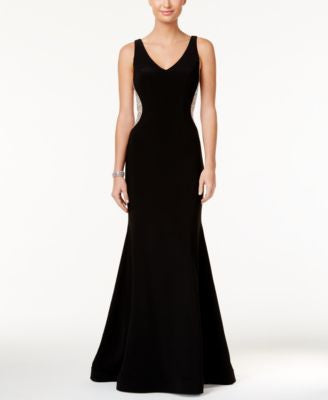 Xscape Petite V-Neck Mermaid Gown