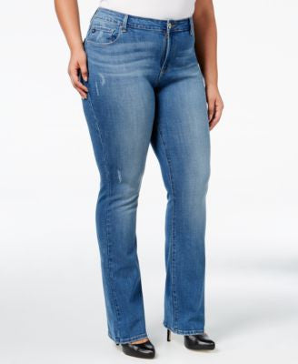 Lee Platinum Plus Size Curvy-Fit Bootcut Jeans