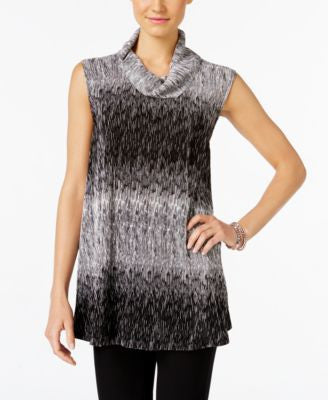 Alfani Petite Ombré Cowl-Neck Top, Only at Vogily