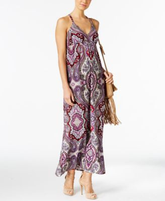 INC International Concepts Petite Printed Maxi Dress, Only at Vogily
