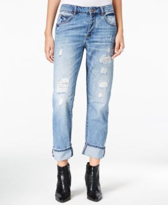 William Rast Slouchy Ripped Infinity Wash Boyfriend Jeans