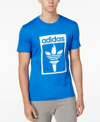 adidas Originals Men's Trefoil Fire Graphic T-Shirt