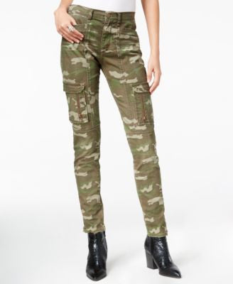 William Rast Camouflage-Print Utility Slim-Leg Pants