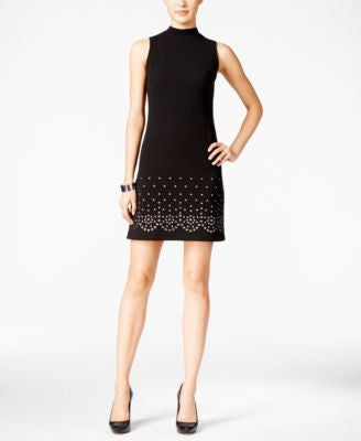 GUESS Grommet Mock-Neck Shift Dress