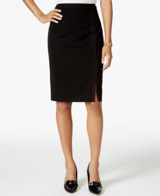 Tommy Hilfiger Pipe-Trim Pencil Skirt