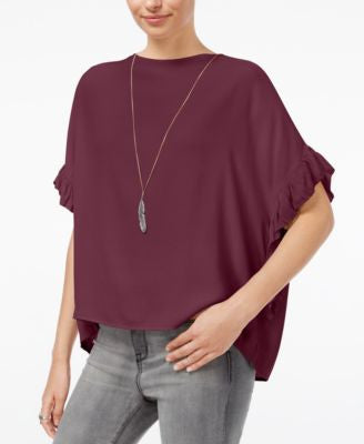 William Rast Jett Flutter-Sleeve Top