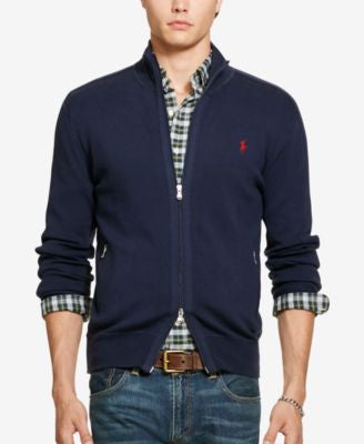 Polo Ralph Lauren Men's Pima Full-Zip Sweater