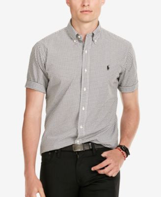 Polo Ralph Lauren Men's Short-Sleeve Checked Poplin Shirt