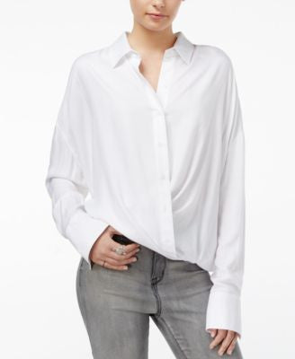 William Rast Aster Cross-Front Shirt