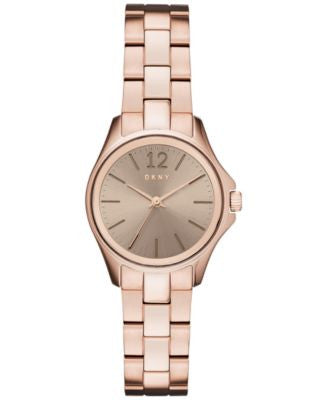 DKNY Women's Casual Case Rose Gold-Tone Stainless Steel Bracelet Watch 30mm NY2524
