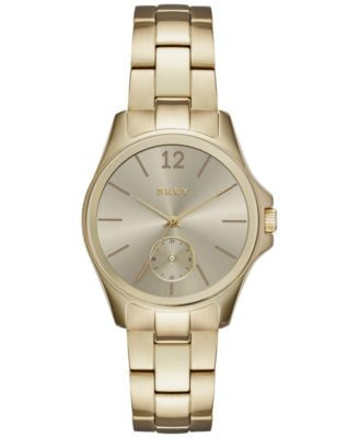 DKNY Women's Casual Case Gold-Tone Stainless Steel Bracelet Watch 36mm NY2517