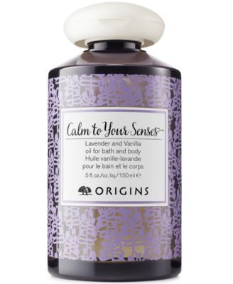 Origins Calm To Your Senses Lavender and Vanilla Oil for Bath and Body