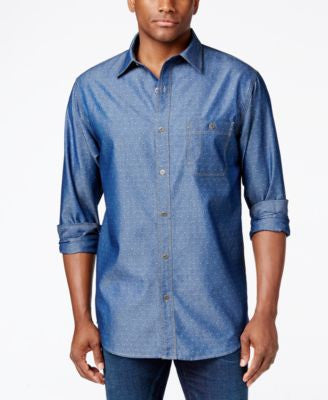 Weatherproof Vintage Men's Denim Long-Sleeve Shirt, Only at Vogily