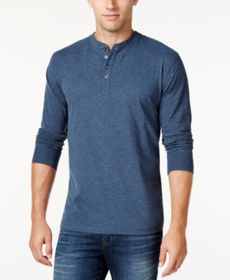 Weatherproof Vintage Men's Jersey Henley, Only at Vogily