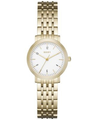 DKNY Women's Dress Case Gold-Tone Stainless Steel Bracelet Watch 28mm NY2510