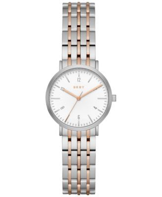 DKNY Women's Dress Case Two-Tone Stainless Steel Bracelet Watch 28mm NY2512