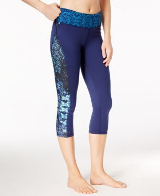 Gaiam Luxe Printed Capri Yoga Leggings