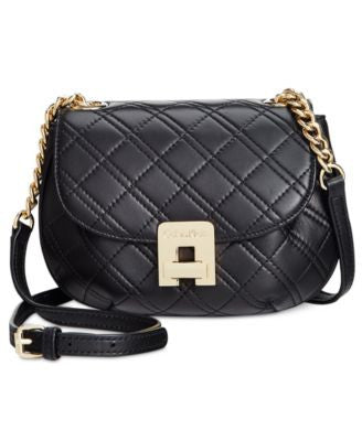 Calvin Klein Quilted Mini Saddle Crossbody