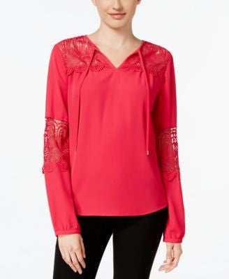 Calvin Klein Lace-Panel Blouse