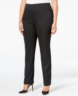 JM Collection Plus Size Pull-On Slim-Leg Pants, Only at Vogily