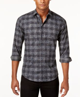 Hugo Boss Orange Men's Long-Sleeve Plaid Shirt