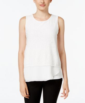 Calvin Klein Layered-Look Lace Top
