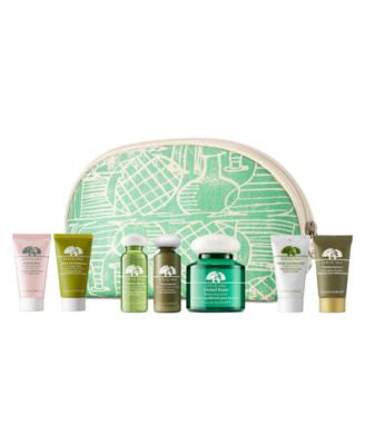 Choose 3 FREE Deluxe Samples & receive a Complimentary Cosmetic Bag with any $45 Origins purchase, O
