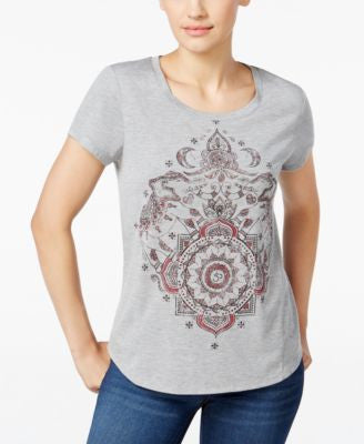 Style & Co. Petite Medallion Graphic T-Shirt, Only at Vogily