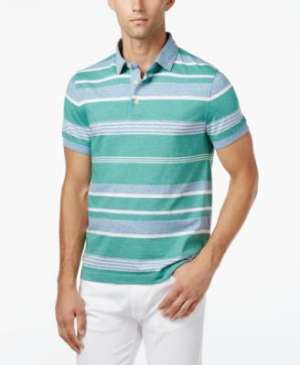 Tommy Hilfiger Men's Caleb Custom Fit Stripe Polo
