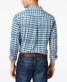 Tommy Hilfiger Men's Easthaven Plaid Custom Fit Long-Sleeve Shirt