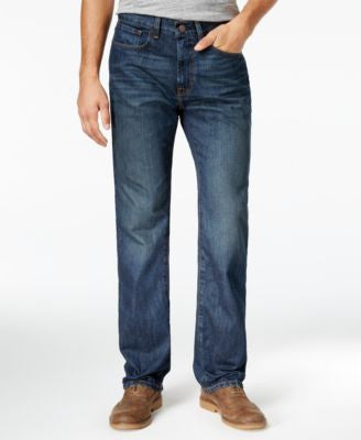 Tommy Hilfiger Men's Relaxed Fit Dark Wash Jeans