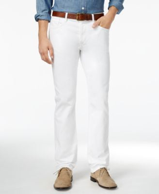 Tommy Hilfiger Men's Straight-Fit White Jeans